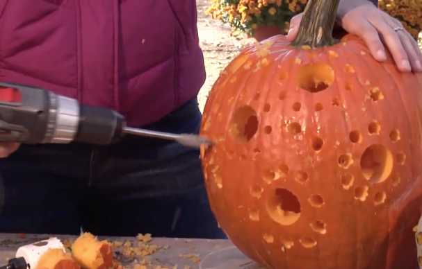How To Use Power Tools To Carve Pumpkins With Great Designs Pumpkin Carving