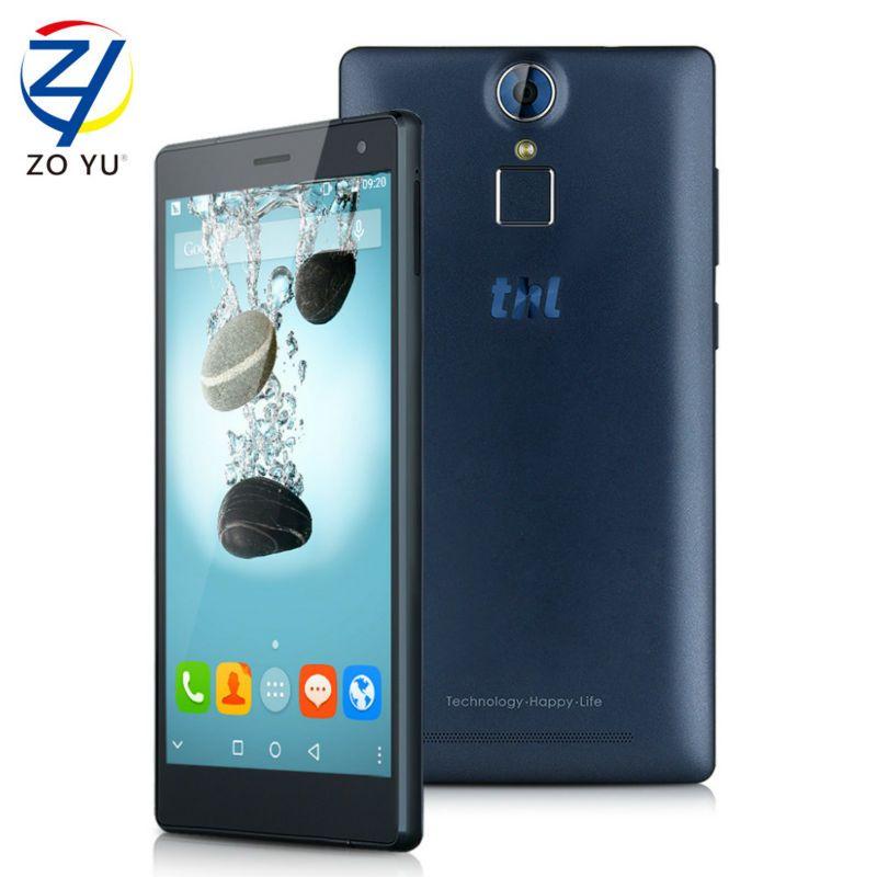 Original thl t7 android 5.1 teléfono inteligente fdd4g mtk6753 ram 16G ROM 5.5 Pulgadas HD Huella Digital Del Teléfono Móvil 4800 mAh Celular teléfono
