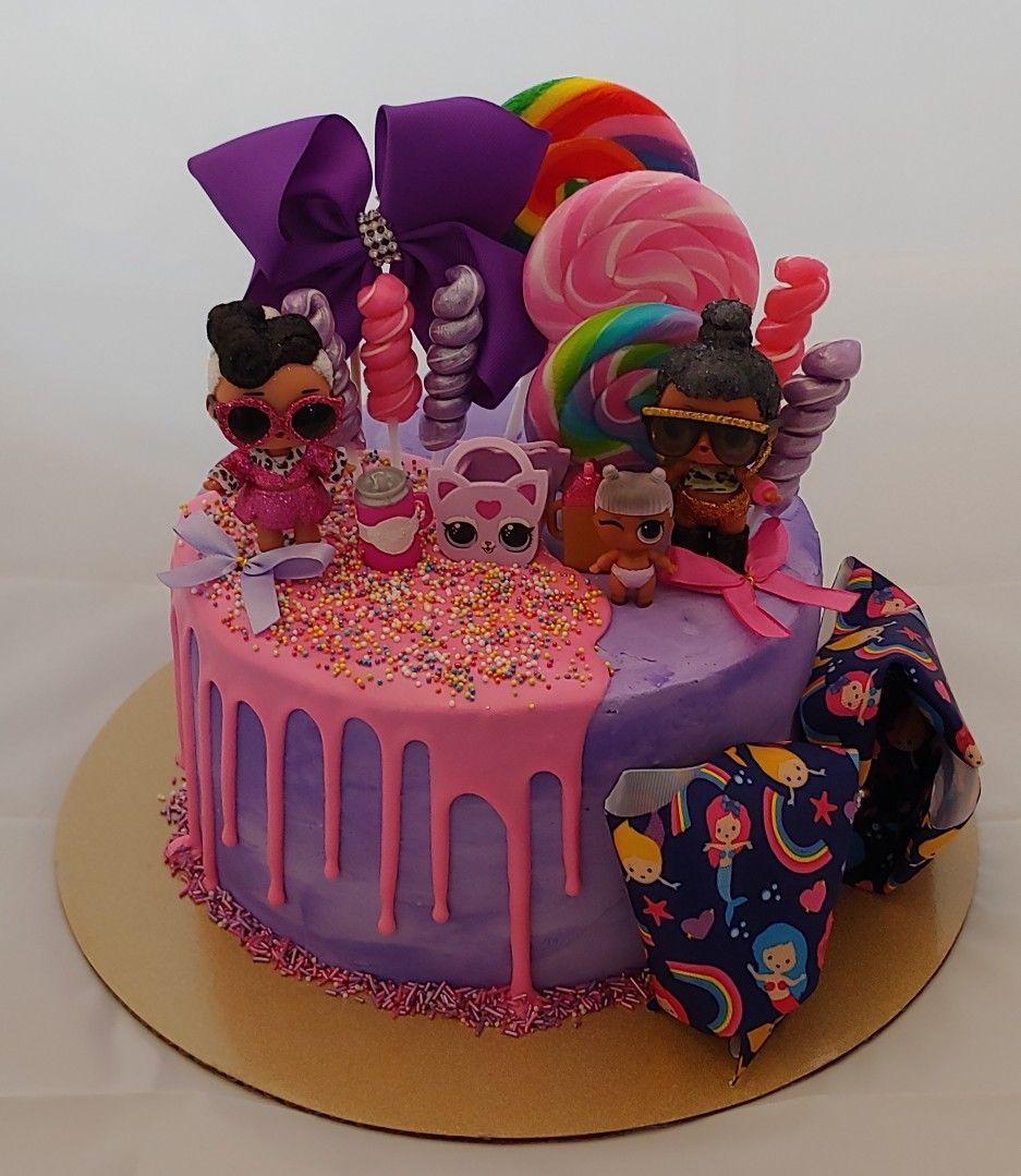 Fabulous Lol Surprise Dolls Jojo Siwa Bow Drip Cake By Cakesbydoublemint2 Birthday Cards Printable Opercafe Filternl