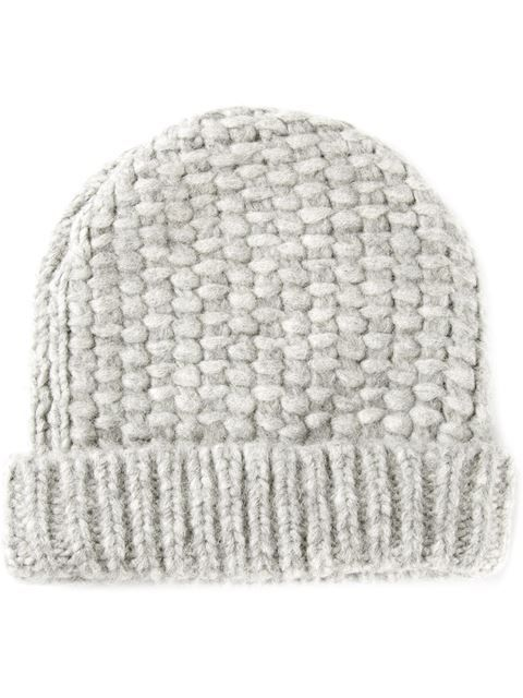9879a998489 Shop Maison Martin Margiela chunky knit beanie in The Webster from the  world s best independent boutiques