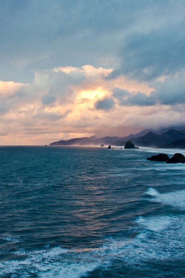 Oregon Coast Sunset Iphone Hd Wallpaper Download Amazing Novo