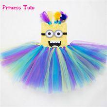 Minion Tutu Dress Halloween Despicable Me Girl Dress Princess Cosplay Costume Kids Girls Party Birthday Cartoon Tulle Dresses //FREE Shipping Worldwide //