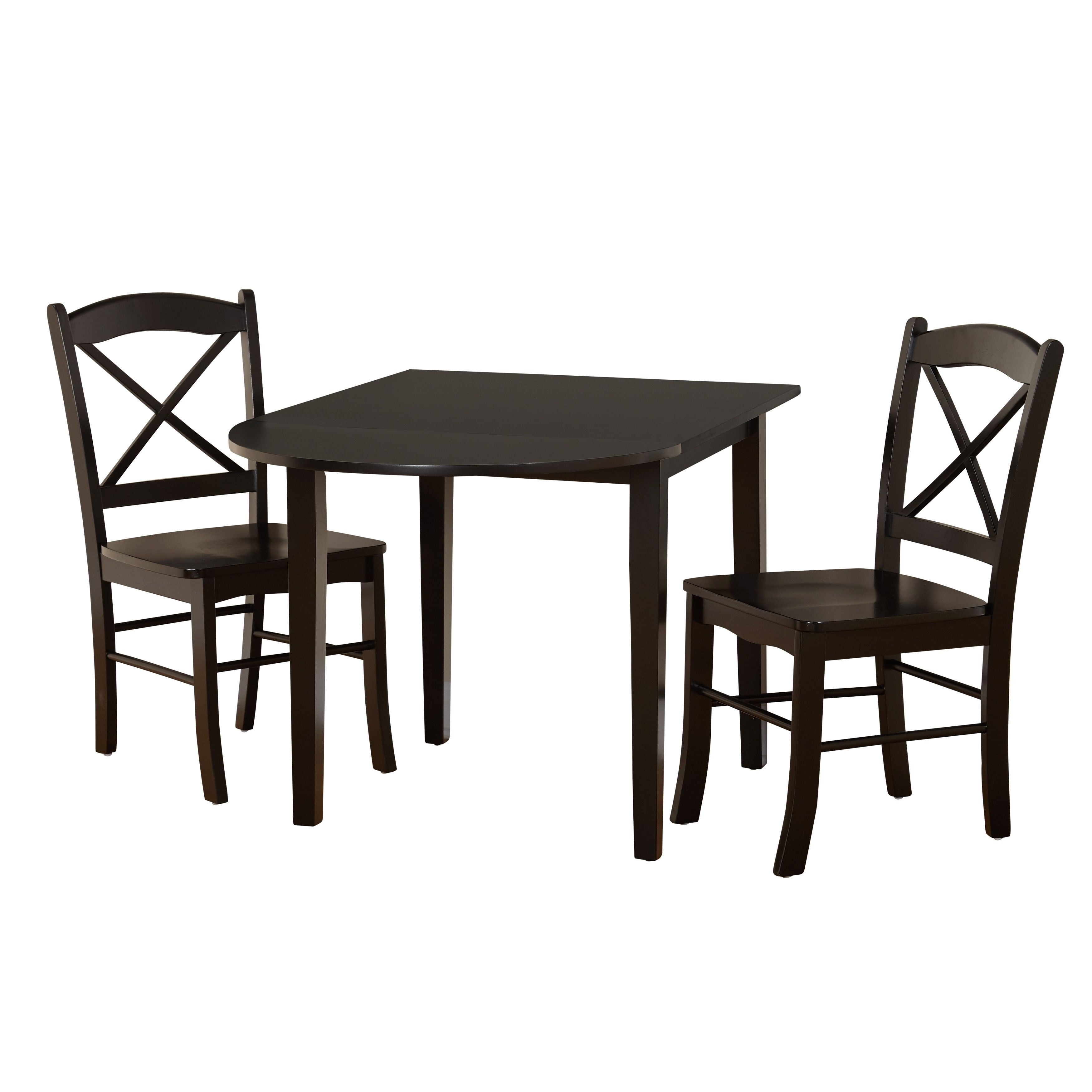 Simple Living Black 3 Piece Country Cottage Dining Set 3pc