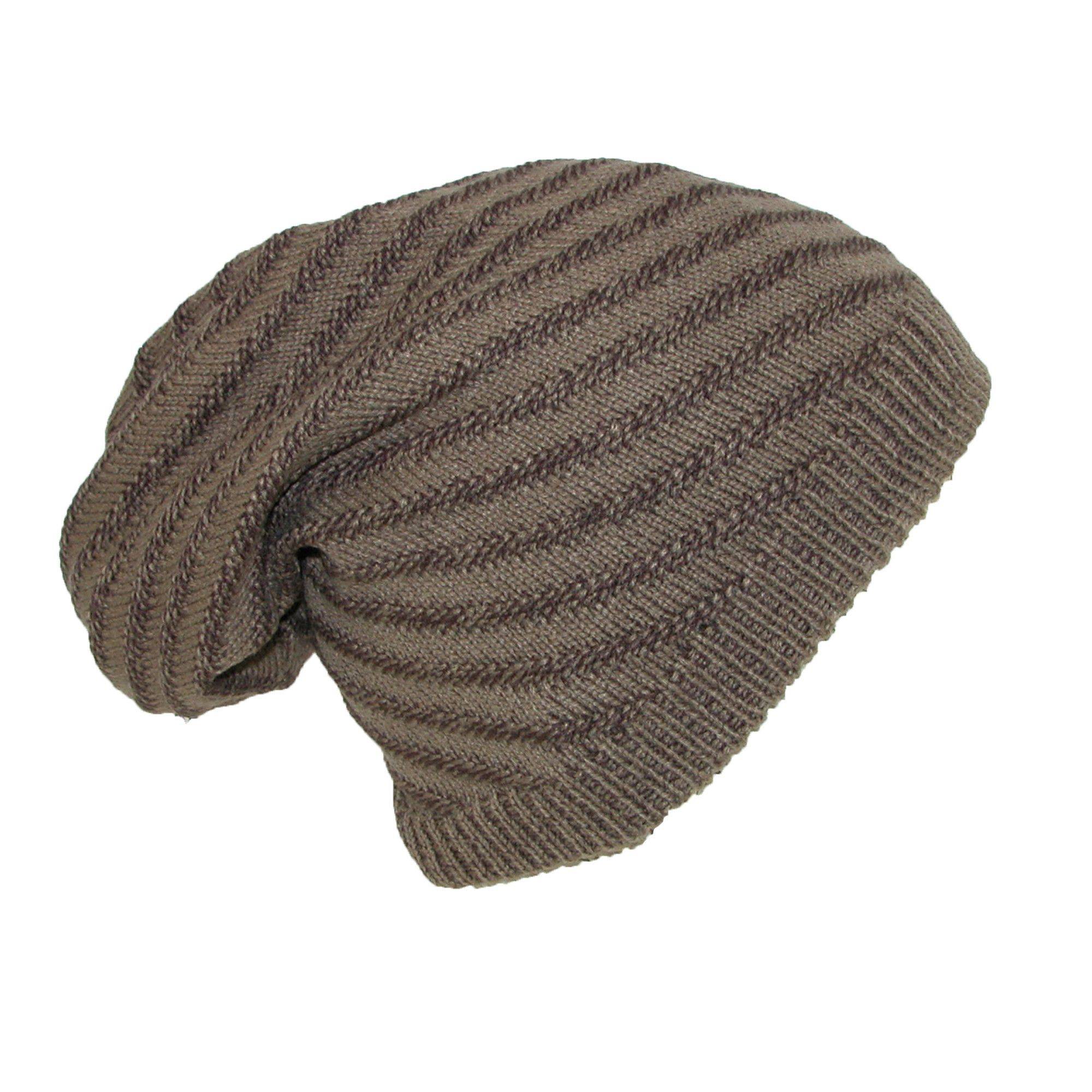 c800c9d73ec Dynamic Asia Reversible Solid to Slanted Stripe Knit Beanie Hat ...