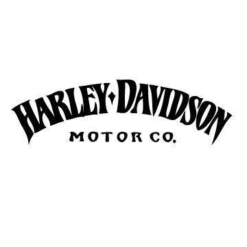 Harley Davidson Arc Tank Decal Gothic Lettering Harley Davidson Custom