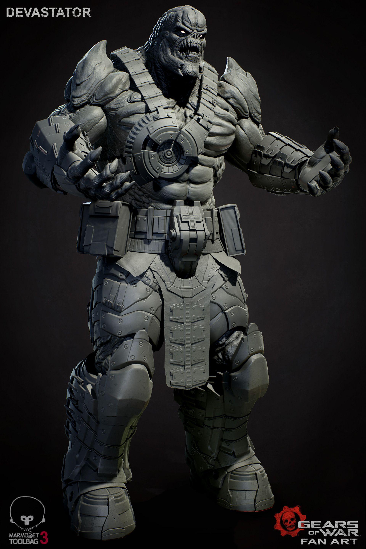 Artstation Gears Of War Devastator Konstantin Ilyin Gears Of War War Superhero