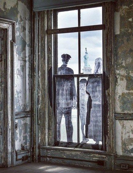 "JR's ""Unframed – Ellis Island"" exhibition"