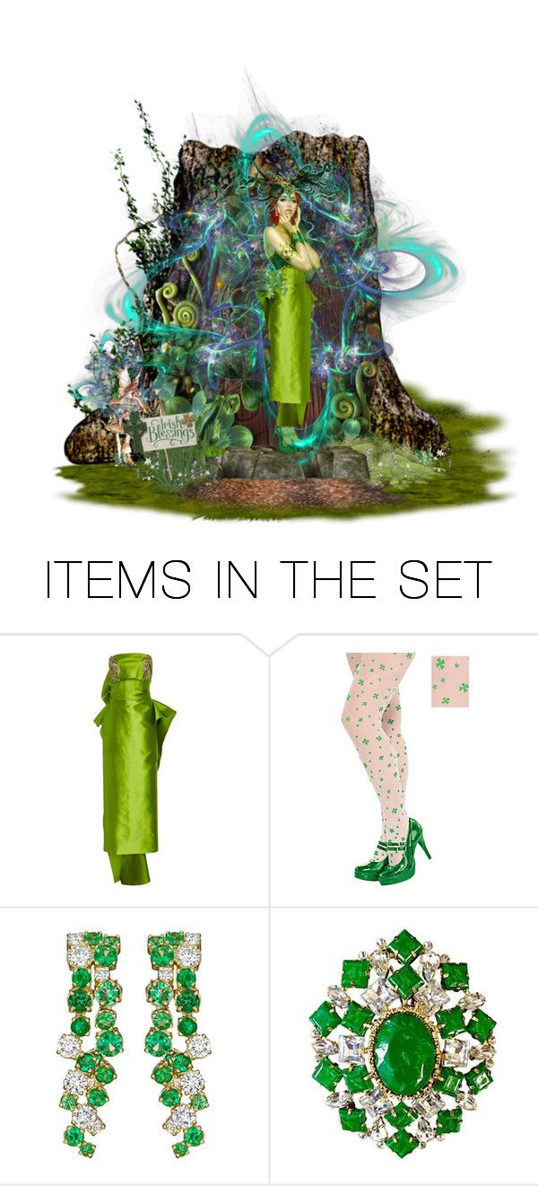 """""""St. Patrick's Magic"""" by kleasterling ❤ liked on Polyvore featuring art"""