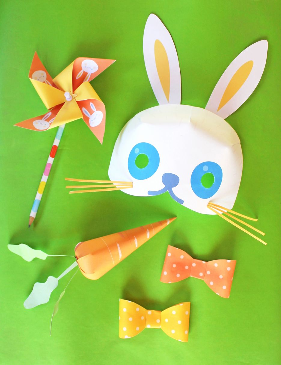 Easter bunny printables 15 patterns templates and cutouts fun easter bunny printables to put together a fabulous easter birthday party or celebration pictures templates cutouts masks gift tag and invitations negle Choice Image