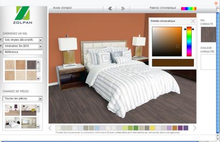 Merveilleux Simulateur Peinture Salon Chambre Cuisine Pour Choisir Couleur Idees Etonnantes
