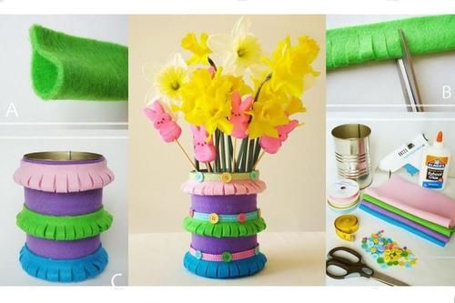 DIY Felt Spring Vase DIY Projects   UsefulDIY.com