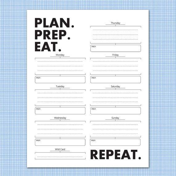 weekly meal prep planner