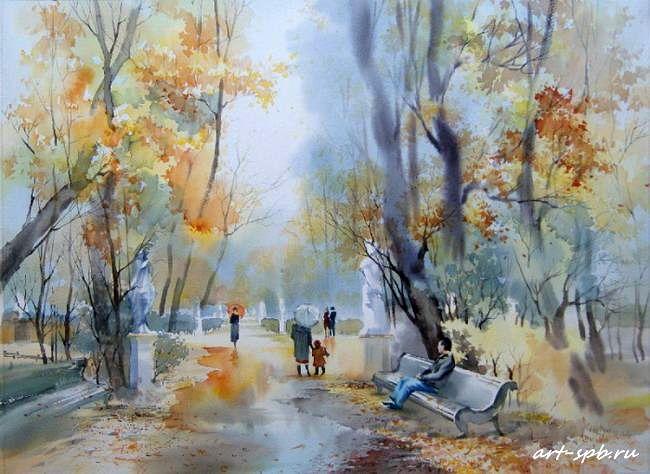 Watercolor By Olga Litvinenko Watercolor Art Watercolor