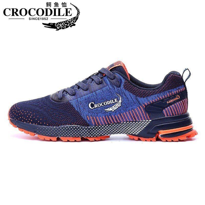 Crocodile Men Marathon Running Sneakers Breathable Sport