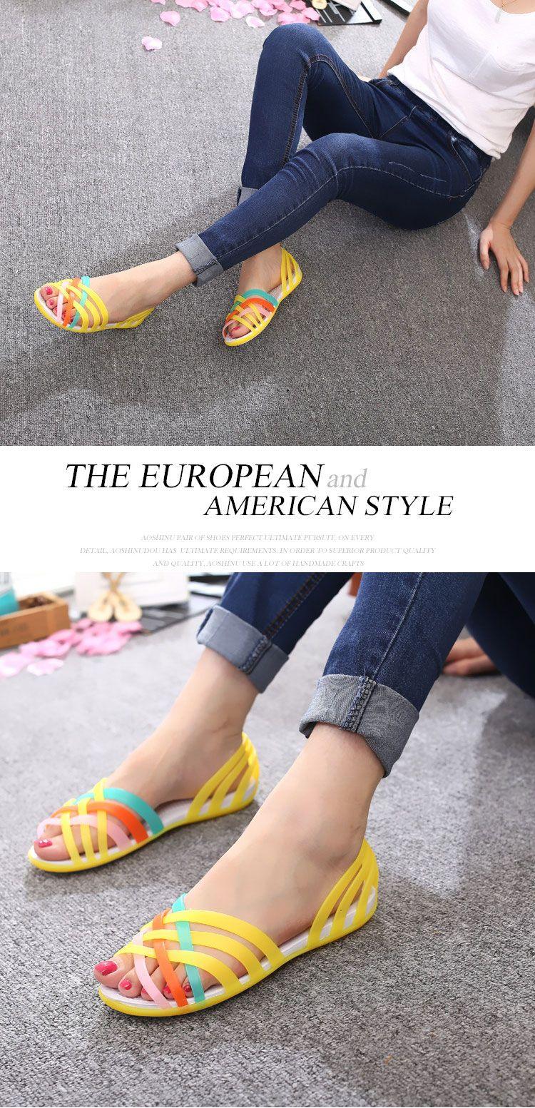 0218c1e17115 Sandals 2019 Women Sandals 2019 Summer New Candy Color Women Shoes ...