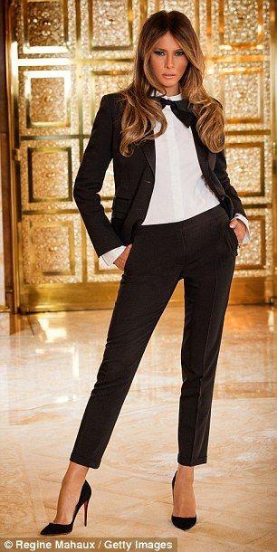 Black And White Melania Trump Hair Blackandwhite Elegance Melaniatrump Modella Www Gateoneparrucchieri I Trump Fashion Milania Trump Style First Lady