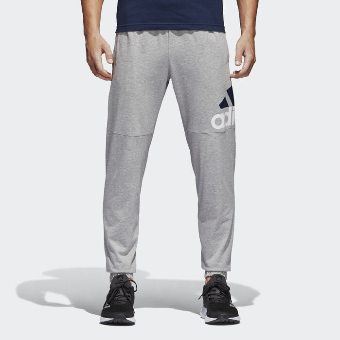 Essentials Performance Logo Pants Grey Mens | Pants for