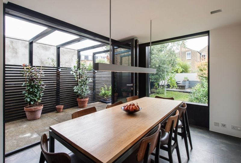Perfect Modern Minimalist Home Dining Room View Garden