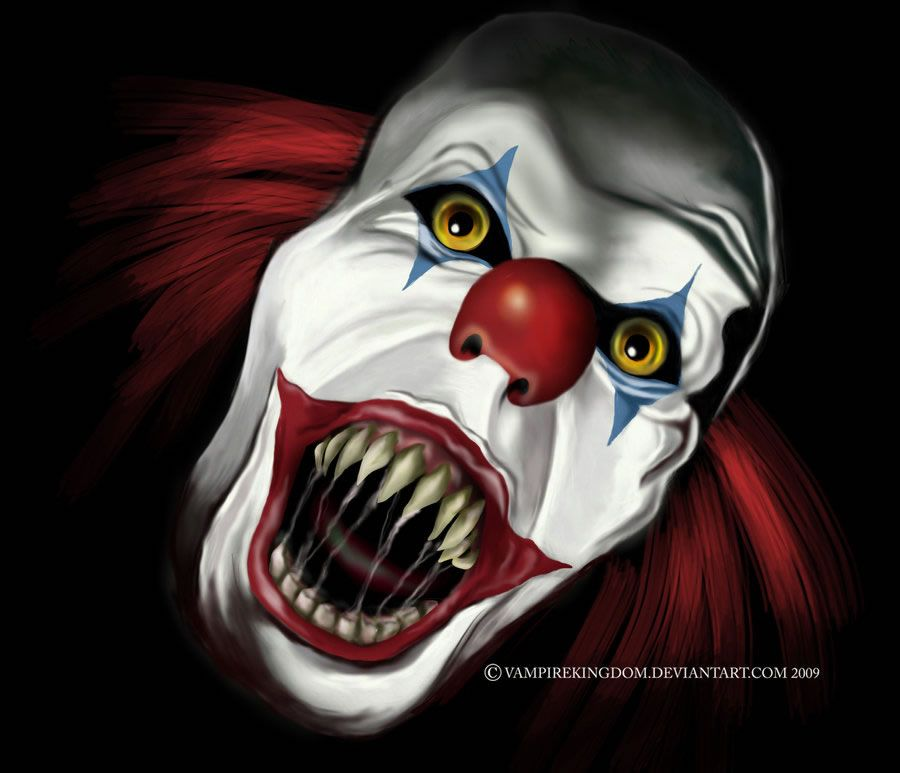list of synonyms and antonyms of the word horror clown drawings