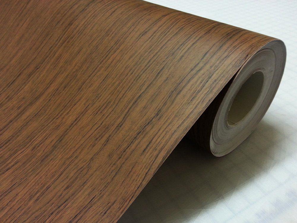 Teak Wood Grain Self Adhesive Vinyl Wrap Wallpaper