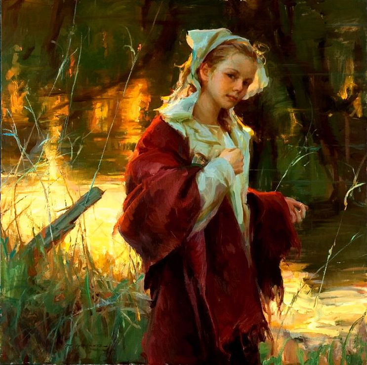 daniel gerhartz art paintings  I love the way he illuminates his figures.