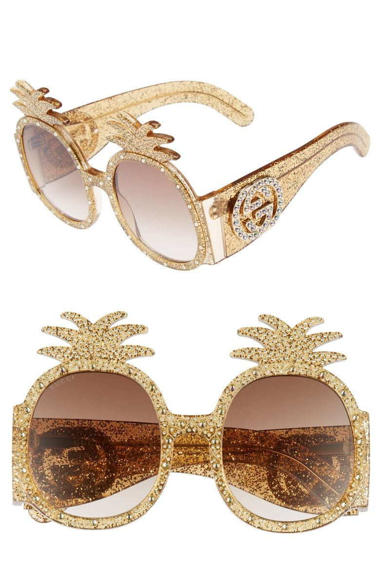 4e44e8d897 Free shipping and returns on Gucci 53mm Pineapple Sunglasses at  Nordstrom.com. Equally as charming on a white-sand beach as they are  strutting down city ...