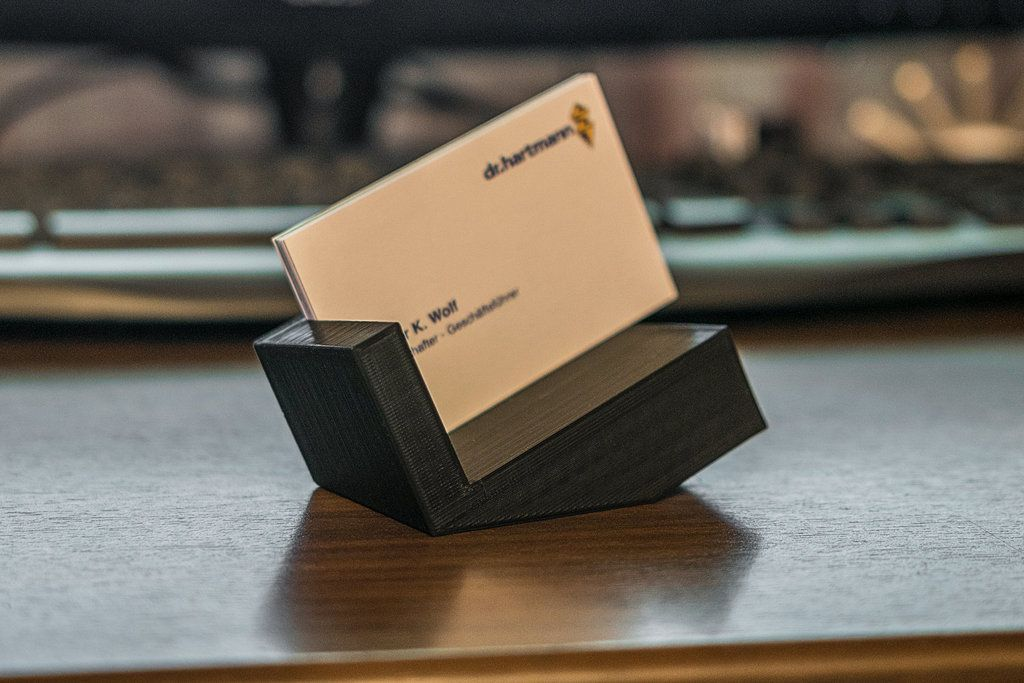 Business Card Holder By Pyromaniac 3d Printing Business Printing Business Cards Business Card Displays