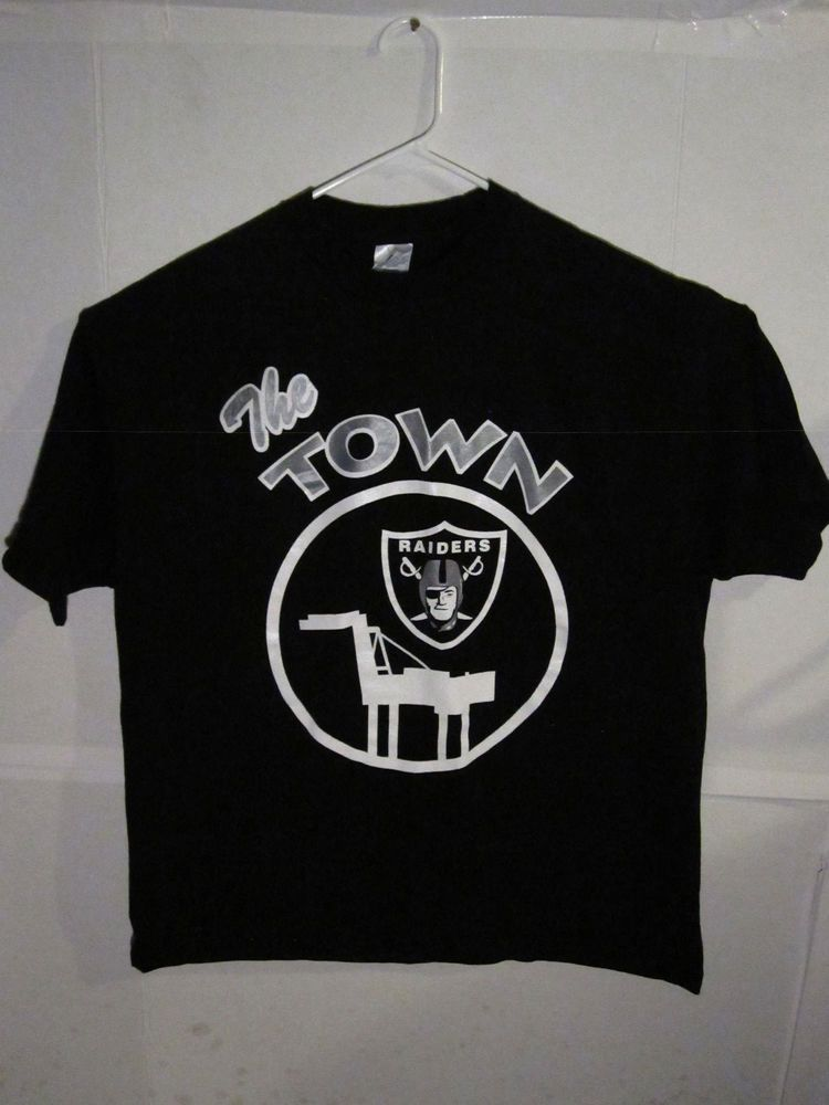 591edaf8 vintage raiders t-shirt the town raiders vtg 90's oakland raiders ...