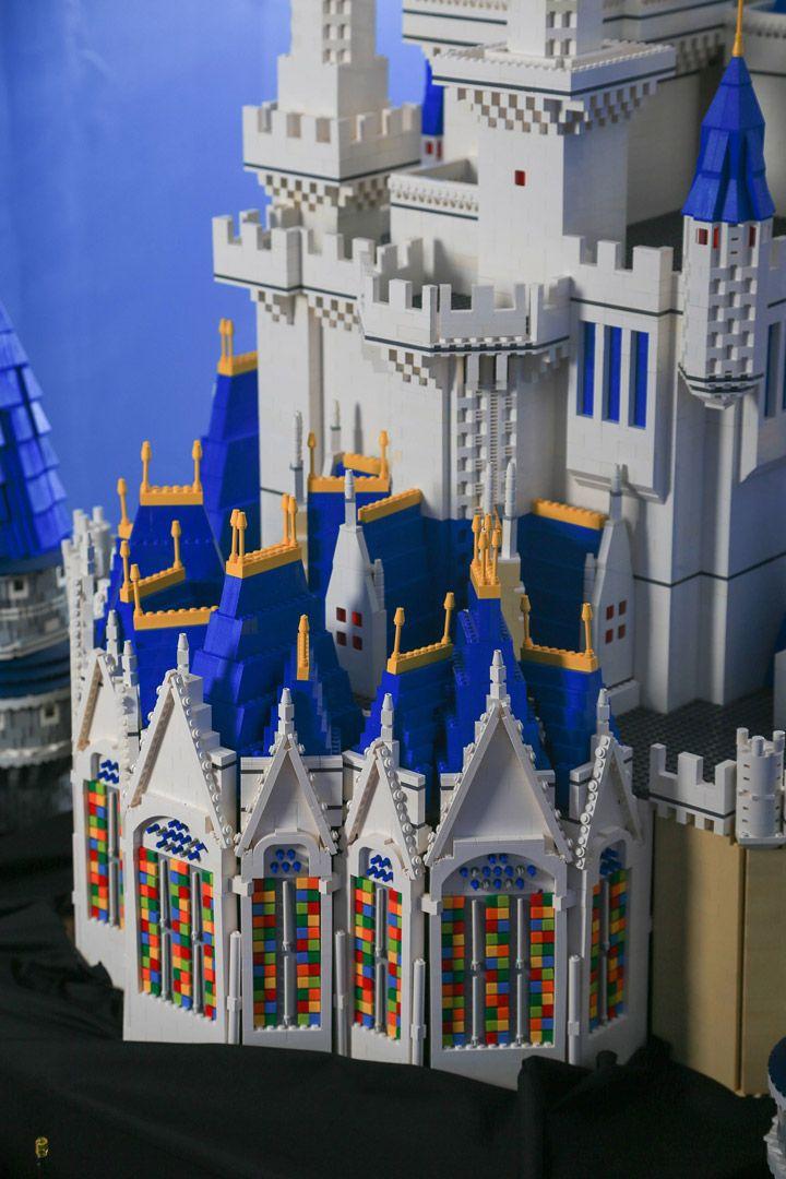 A Beautiful And Massive Lego Disney Cinderella Castle