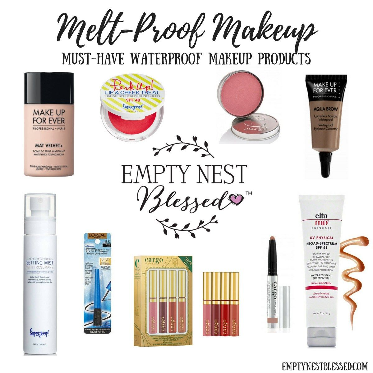 MeltProof Makeup Waterproof makeup, Best waterproof