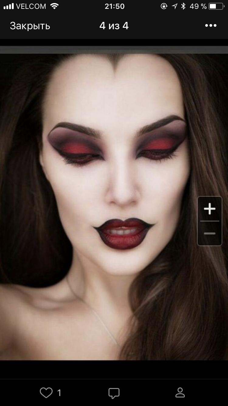 Malefica Maquillaje de vampiro, Maquillaje dia