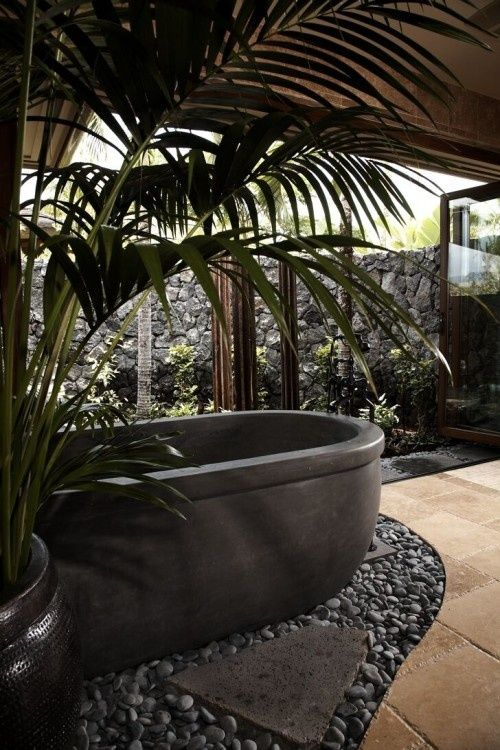 19 Stunning Bathrooms Inspired By Nature Avec Images Salle De