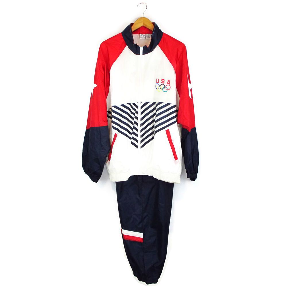 8dc3eb55 Details about Halloween USA Olympic Track Suit Sports Costume XXL 3X ...