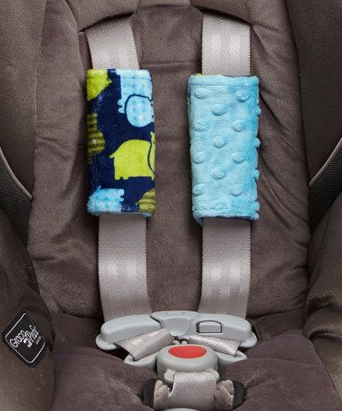 Turquoise Hippo Minky Car Seat Strap Covers By Lolly Gags Zulilyfinds