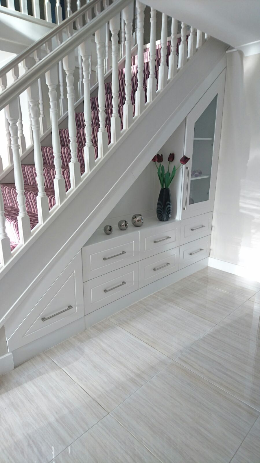 Custom Made Under Stairs Storage Unit For The Foyer
