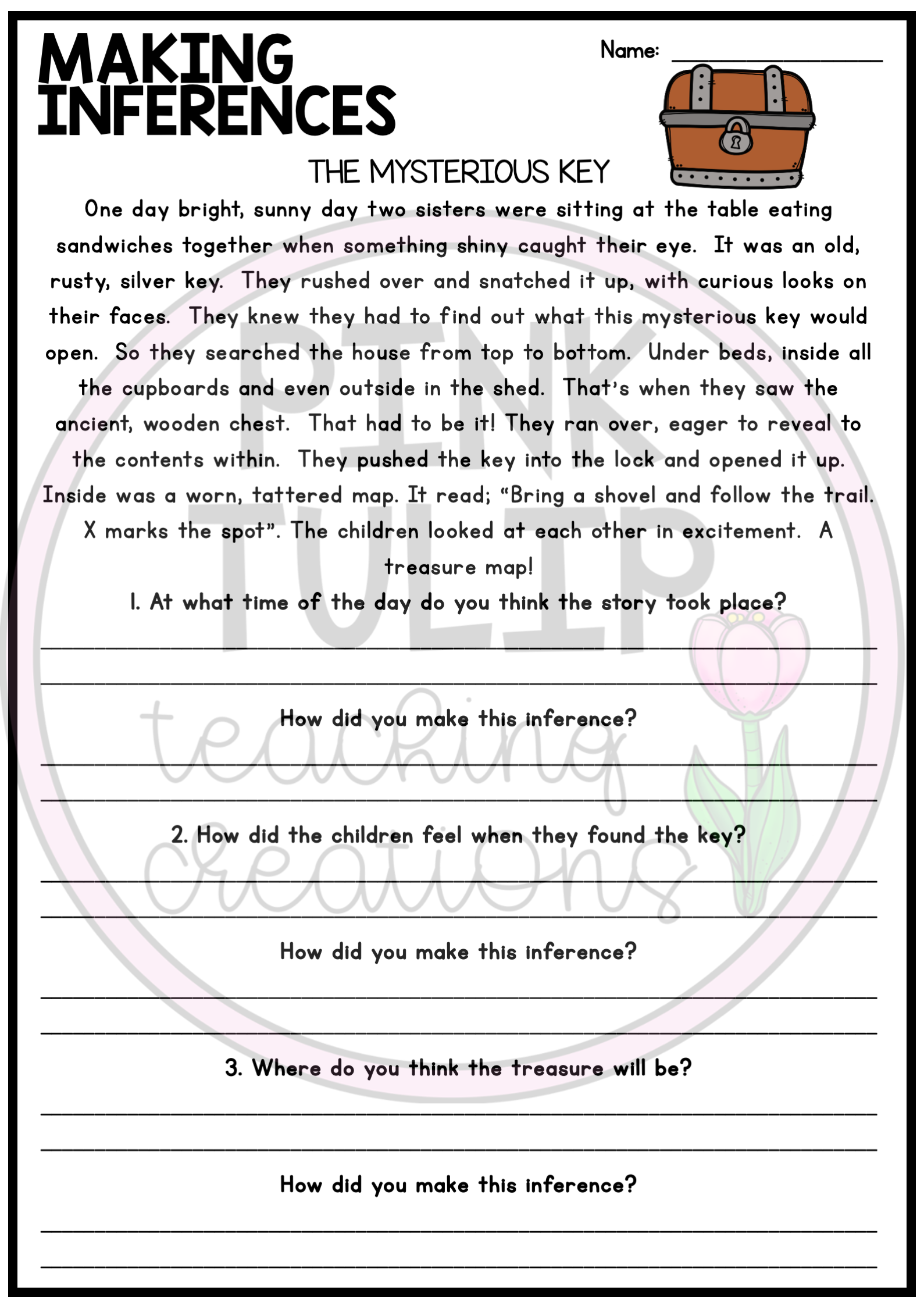 Making Inferences Worksheets 7th Grade   Printable Worksheets and  Activities for Teachers [ 2249 x 1589 Pixel ]