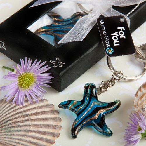 Wedding Favors Murano Glass Collection starfish keychain favors by Fashioncraft, http://www.amazon.com/dp/B005VTP4JW/ref=cm_sw_r_pi_dp_uaudsb1X36WMP