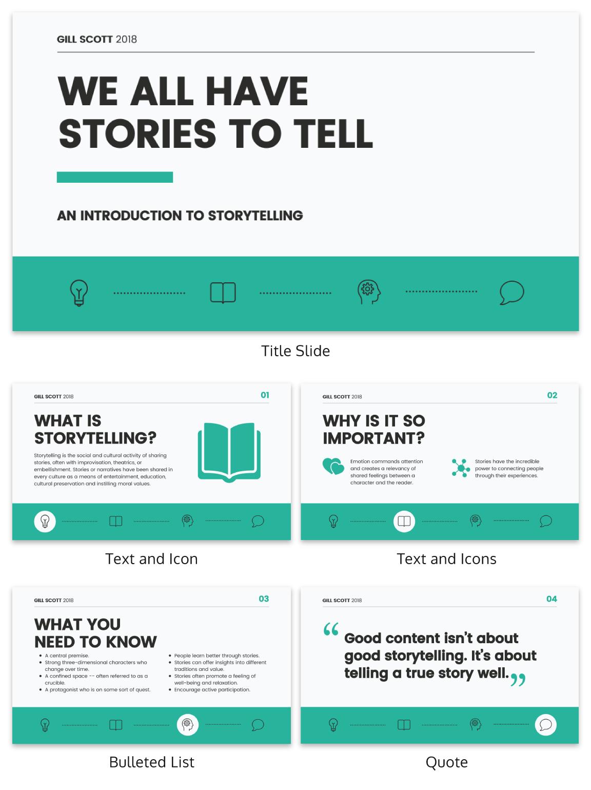 Storytelling Business Presentation Business Storytelling