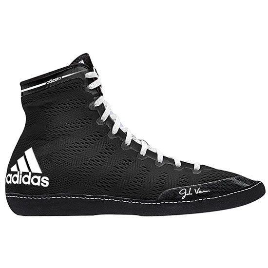 adidas Men's Adizero Wrestling XIV Wrestling Shoes, Black/White/White, 10 M  US: Wrestling Shoes