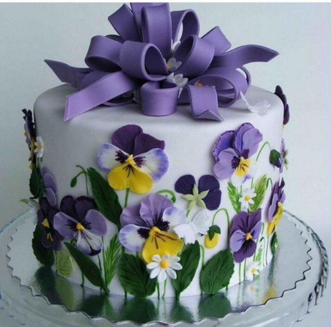 Spring Purple Flower Cakethese are the BEST Cake Ideas Cakes