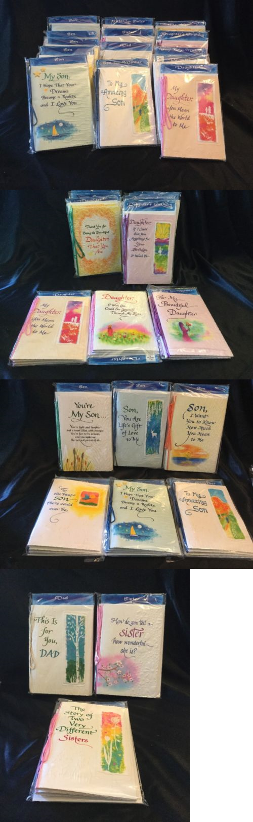 Greeting Cards And Invitations 170098 Lot Of 14 Pack Of 3 Blue