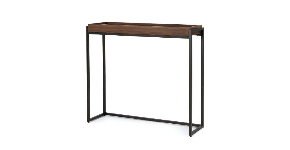 Oscuro Walnut Console In 2020 Modern Console Tables Mid Century Modern Console Table Wooden Console Table