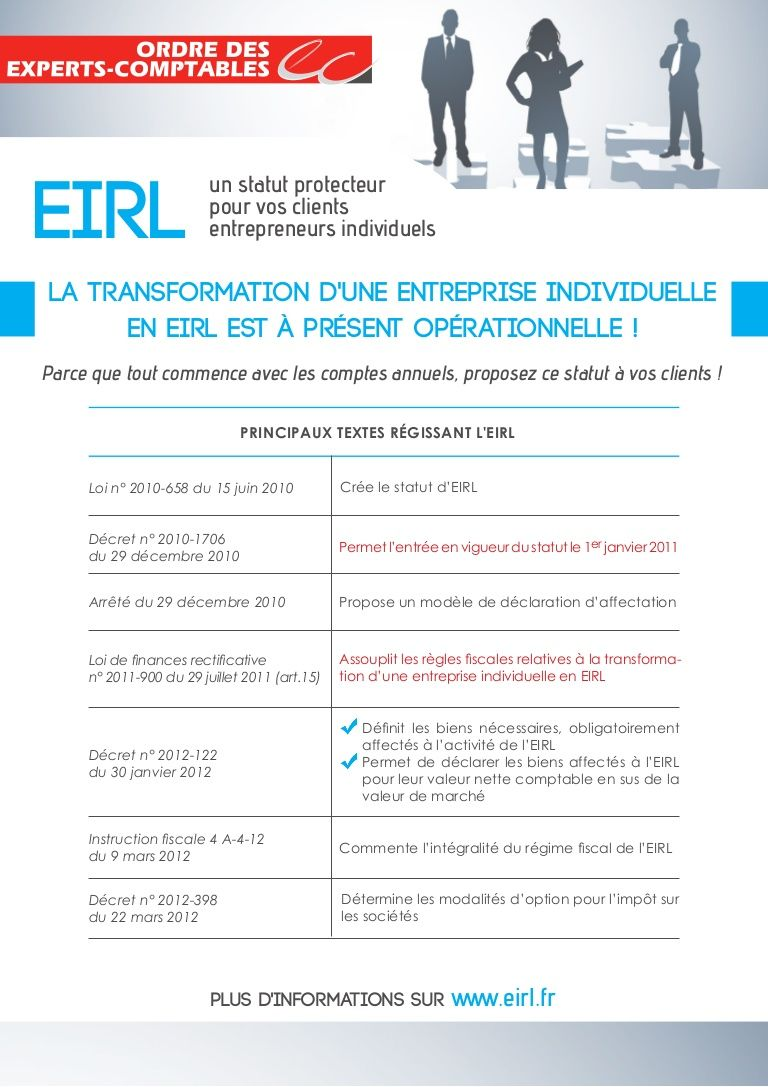Transformer son EI en Eirl Entreprise individuelle