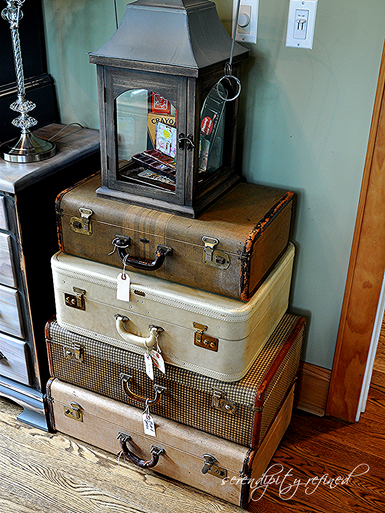 Serendipity Refined: Vintage Suitcases - More Storage For My ...