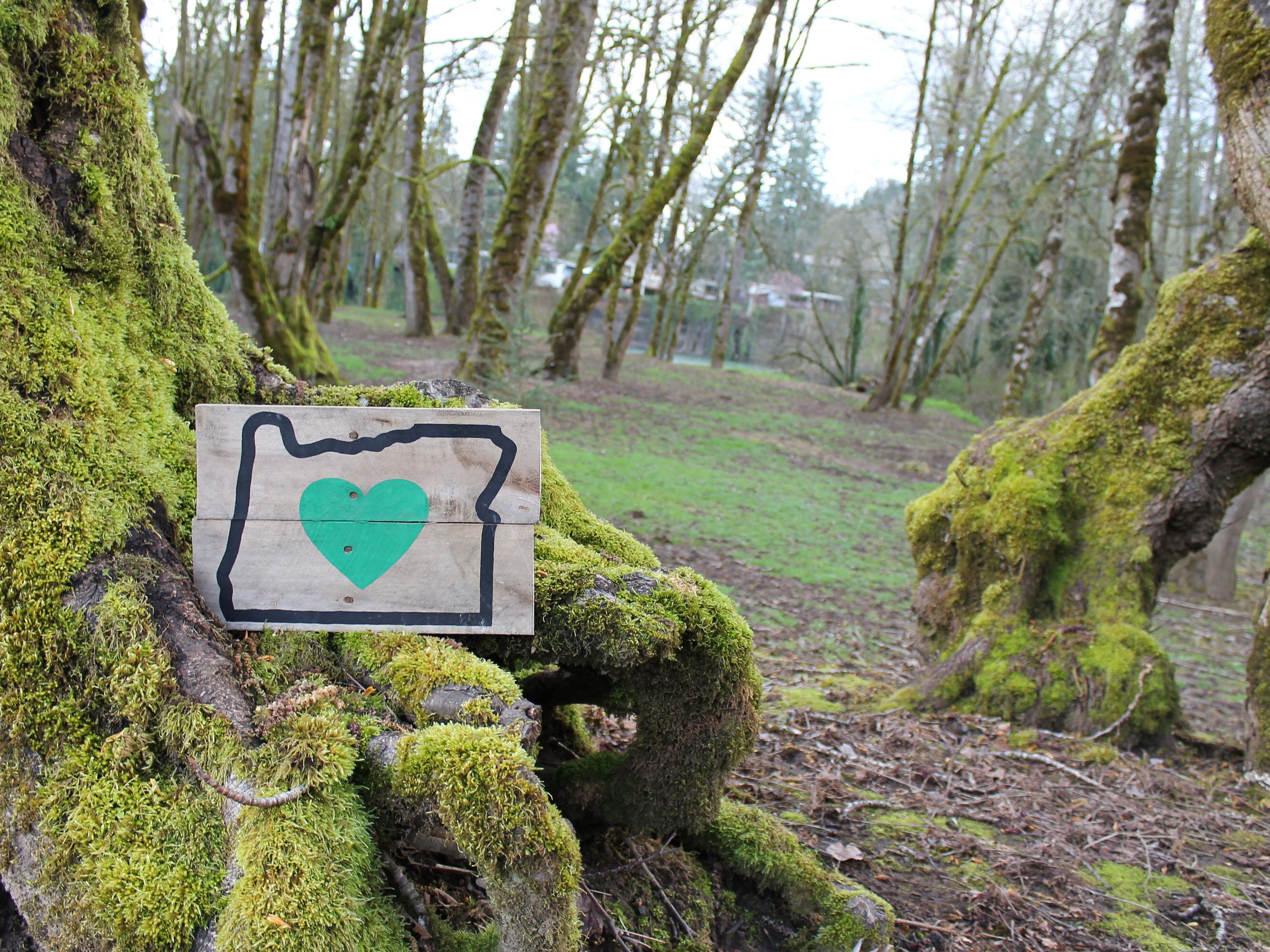 Heart In Oregon, Heart In Oregon Wood Sign, Rustic Home Decor Sign, Wood