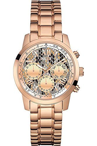 Guess W0448l9 Ladies Rose Gold Tone Multi Function Stainless Steel Case 50m Wr Check Out This Great Pr Stainless Steel Bracelet Womens Watches Bracelet Watch