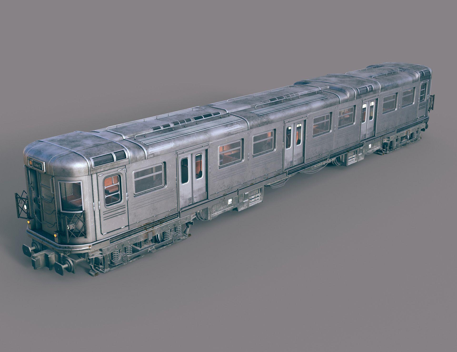 ArtStation - Subway train, Misuo WU