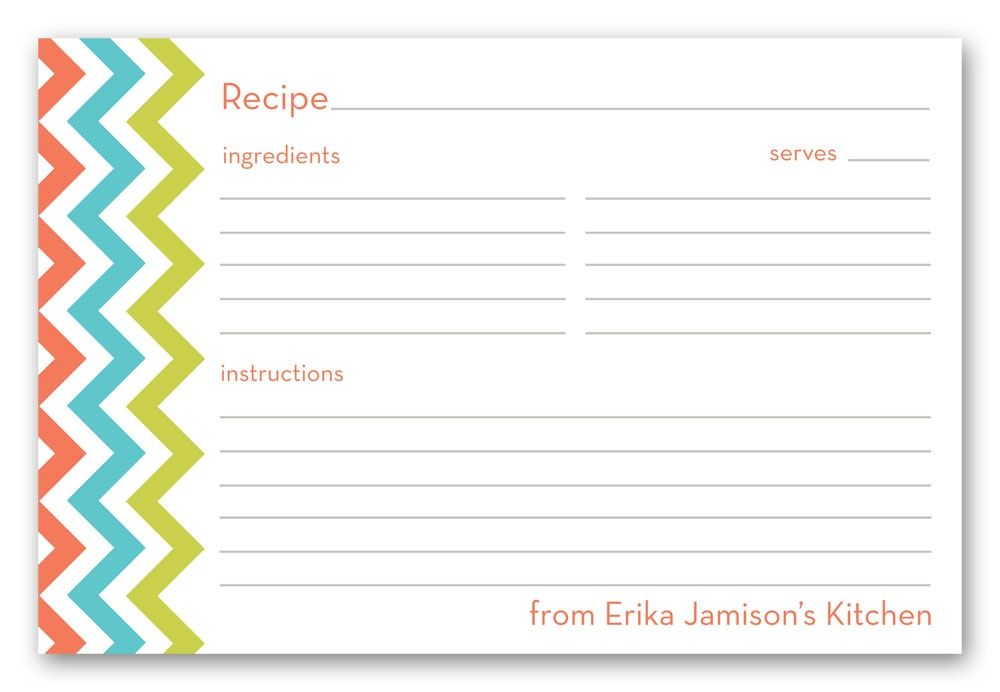 It is a graphic of Adaptable Cute Recipe Cards