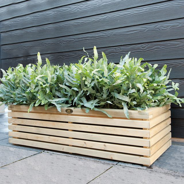 Bac En Bois Elan 120 X 50 X H 30 Cm Castorama Idee Deco Jardin Bac En Bois Deco Jardin