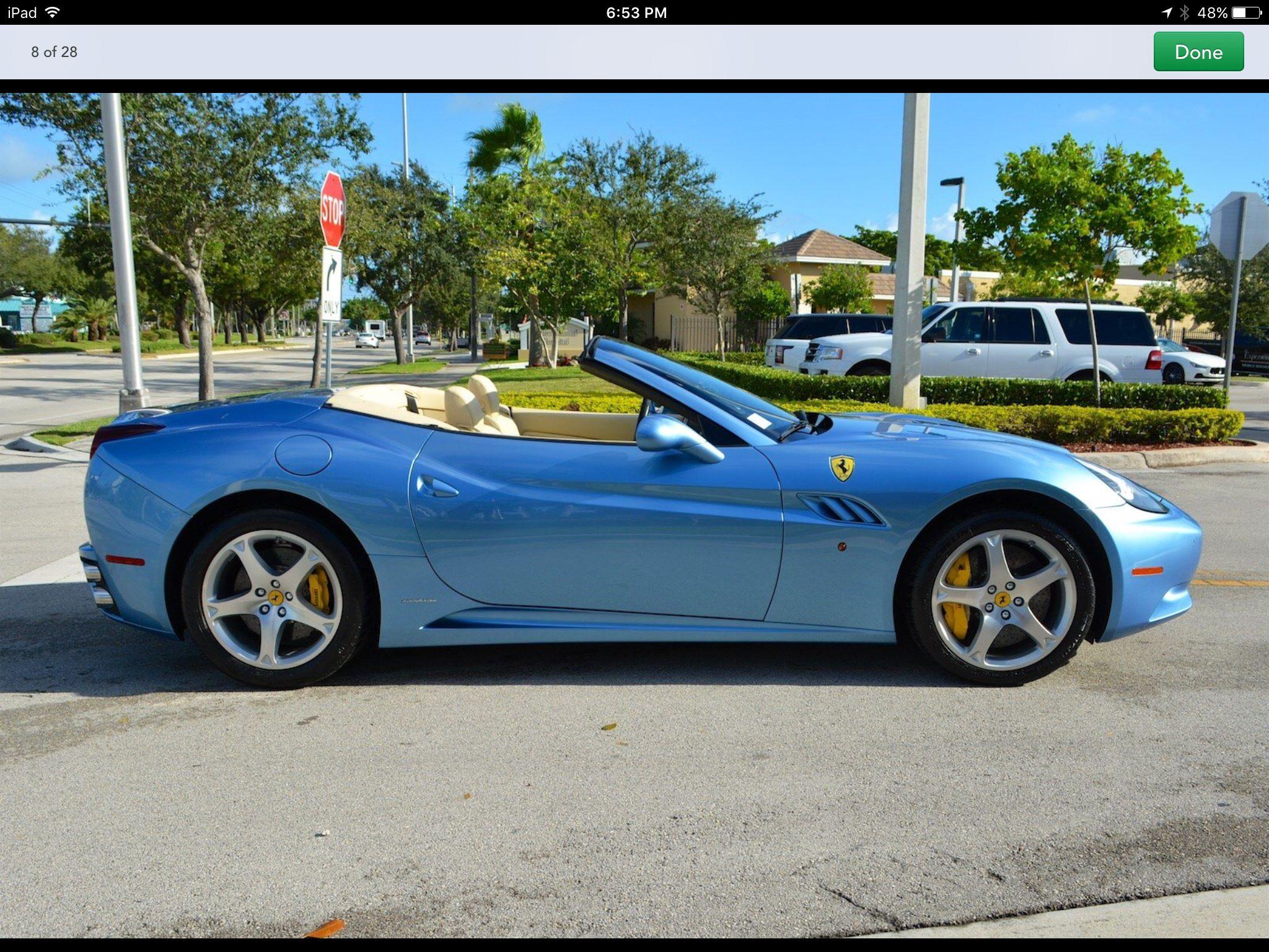 Blue Ferrari California with cream guts...#3